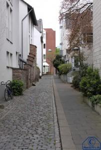 Neuss Rottelsgasse Blickrichtung Oberstraße